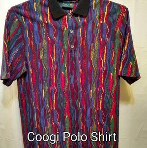 Coogi Men's 1990 Vintage Vibrant Polo Shirt XLg